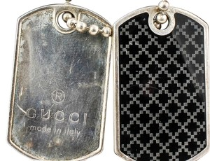 Gucci * Gucci Dog Tags Pendant