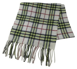 Burberry Burberry Wool Blend Fringed Scarf