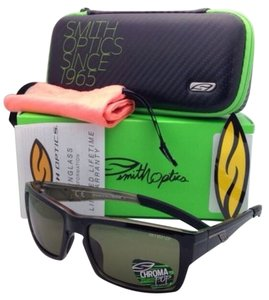 Smith Optics Polarized SMITH OPTICS Sunglasses OUTLIER Black Frame w/ CHROMAPOP Gray/Green Lenses