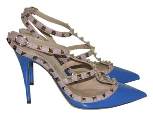 Valentino Blue Patent Leather Pumps
