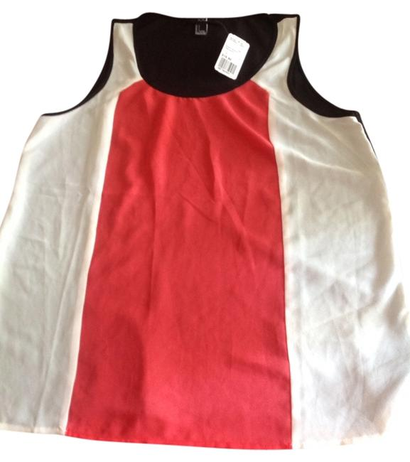 Preload https://item3.tradesy.com/images/forever-21-tank-top-colorblock-black-white-and-red-1221172-0-0.jpg?width=400&height=650