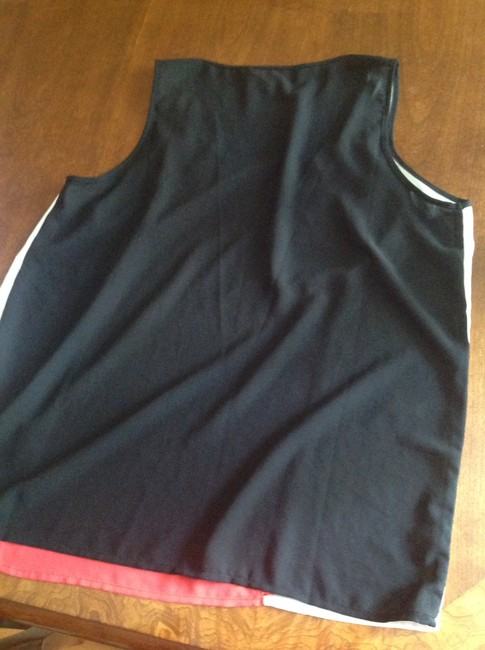 Forever 21 Top Colorblock Black, White, and Red