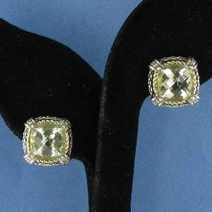 Andréa Candela Andrea Candela Alhambra Earrings 0.20cts Diamonds Lemon Quartz 925 18k Yg