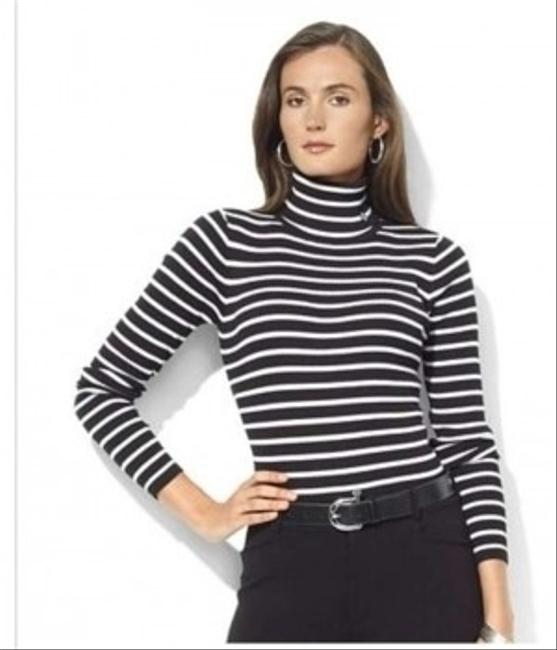 Preload https://item1.tradesy.com/images/lauren-ralph-lauren-3-tops2-long-sleeve-tees-and-black-white-striped-sweaterpullover-size-6-s-122120-0-0.jpg?width=400&height=650