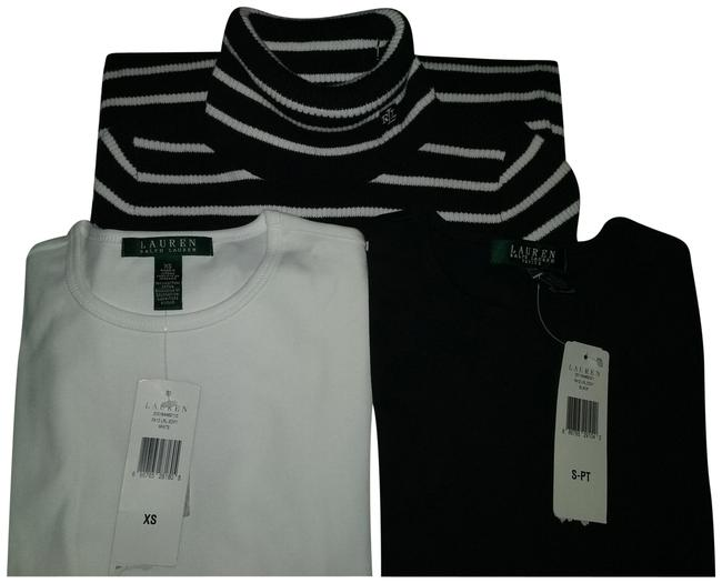 Preload https://item1.tradesy.com/images/lauren-ralph-lauren-three-tops2-classic-long-sleeve-and-black-white-striped-knit-sweaterpullover-siz-122120-0-2.jpg?width=400&height=650