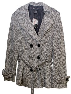 A. Giannetti Belted Blazer Soft Black and White Tweed Jacket