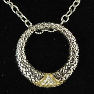 Andra Candela Andrea Candela Rodeo Necklace 0.10cts Diamonds 925 18k Yellow Gold