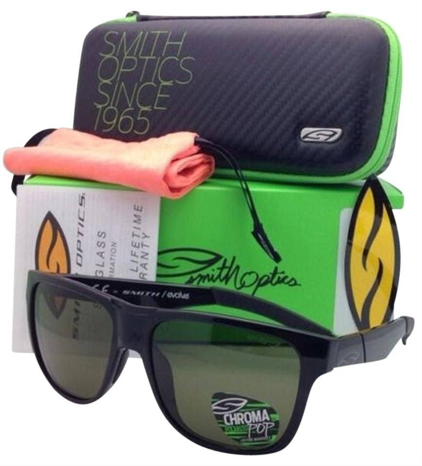 547fc37632 Smith Optics Polarized SMITH OPTICS Sunglasses LOWDOWN Black Frame w   CHROMAPOP Gray Green Lenses ...