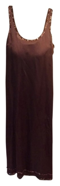 Item - Chocolate Brown Vintage Sequined Long Casual Maxi Dress Size 4 (S)