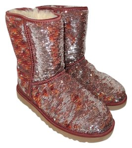 UGG Australia Bronze and Silver Sparkle Boots