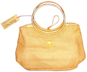 New Beach Woven Natural Satchel in tan