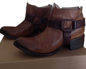 FreeBird By Steven Leather Ankle Tan Boots