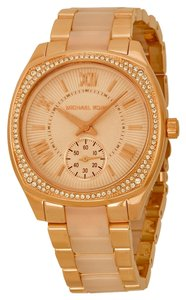 Michael Kors Blush Acetate Rose Gold Crystal Pave Ladies Watch