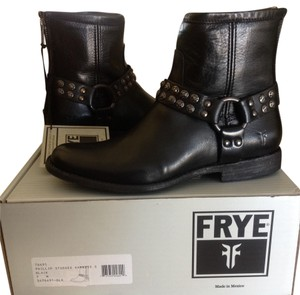 Frye Leather Ankle Black Boots