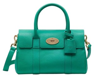 Mulberry Satchel in Aqua Green