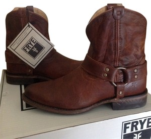 Frye Western Ankle Boot Leather Cognac Boots