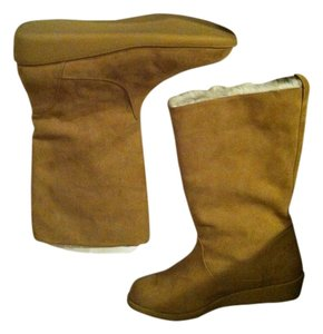 H&M Warm Fleece-lined Wedge beige Boots