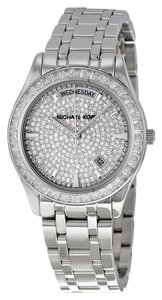 Michael Kors Crystal Pave Encrusted Silver tone Luxury Ladies Watch