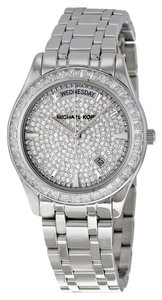 Michael Kors Crystal Pave Silver tone Designer Ladies Dress Watch