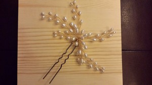 BHLDN Gold/Pearl Dewed Vines Hairpin (New ) Hair Accessory