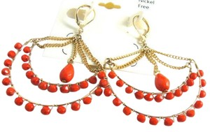 Other Cato Chandelier Earrings Red Gold Long 3 In. Large J2030