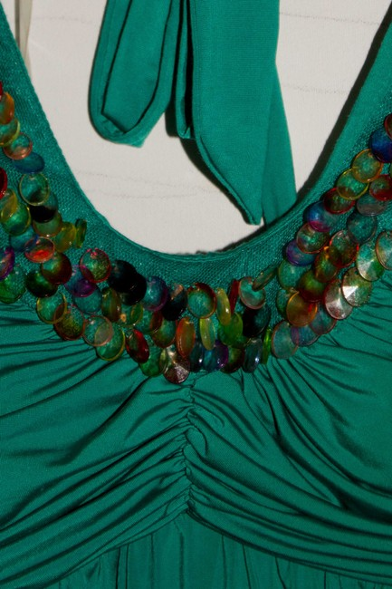 Sequin Hearts short dress Teal with Sequins on Tradesy
