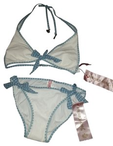 Juicy Couture Juicy Couture terry cloth polka dot string bikini