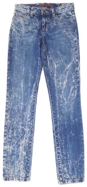 Item - Light Distressed Womens Blue Irma Faded Vintage Reserve Ankle 25 Straight Leg Jeans Size 25-2-xs