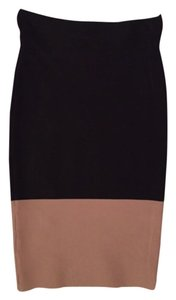 BCBGMAXAZRIA Mini Skirt Black and nude
