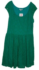 Velvet Torch short dress Green Lace on Tradesy