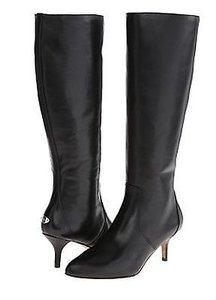 Coach Foxy Semi Matte Calf A8409 Womens Leather Knee High Black Boots