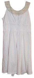mark. short dress White with Gold Thread on Tradesy