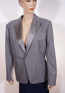 Ralph Lauren Ralph Lauren Purple Label Womens Grey Wool 1 Button Suit Jacket Blazer Italy