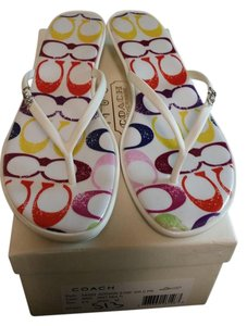 Coach multiple color. Sandals