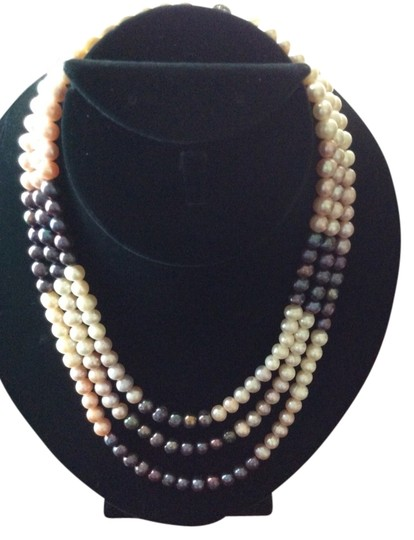 Preload https://item1.tradesy.com/images/multi-colored-three-layered-genuine-pearls-1221580-0-0.jpg?width=440&height=440