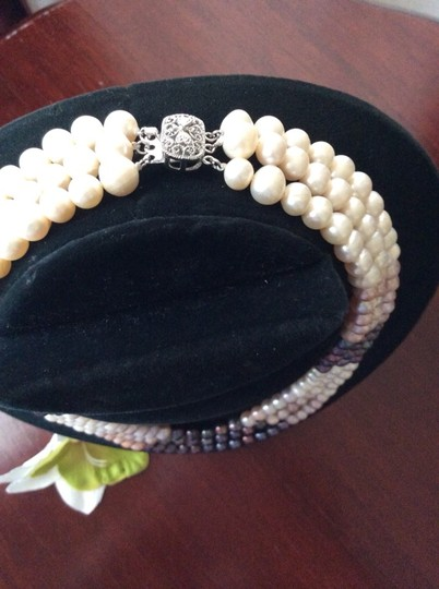 Other Three Layered Multicolored Genuine Pearls