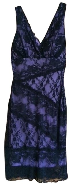 Preload https://img-static.tradesy.com/item/1221602/purple-with-lace-above-knee-night-out-dress-size-6-s-0-0-650-650.jpg