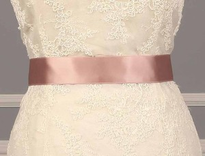 Misty Rose Pink Ribbon Sash 1 1/2
