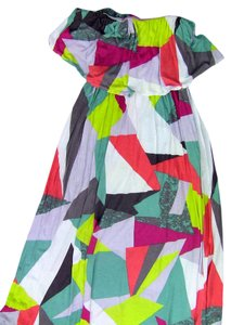 white, pink, green, blue, grey, yellow Maxi Dress by Seneca Rising Strapless