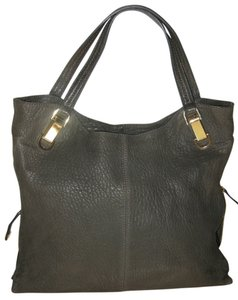 Vince Camuto Bubble Lamb Leather Tote in Gray Smoke