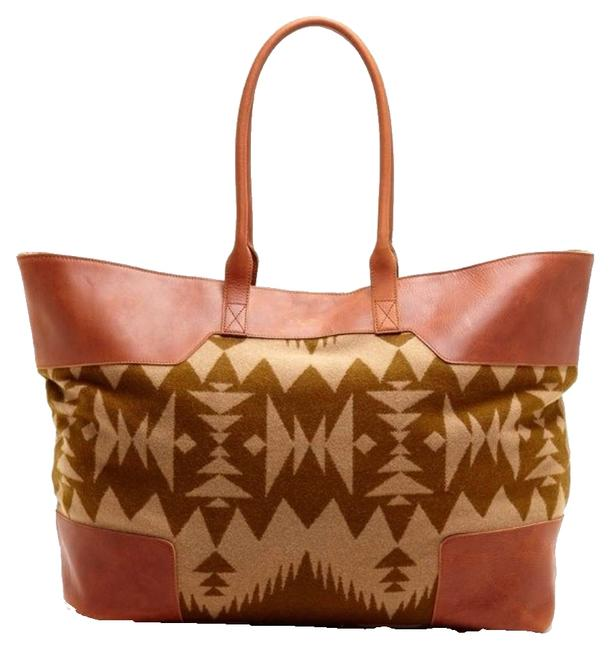 Item - Canyonville Leather Trim Brown Tote