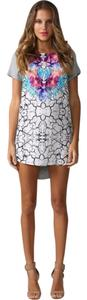 HelloMolly short dress Multi-Colored Floral/Digital Print T-shirt on Tradesy