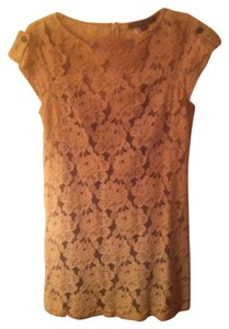 Cynthia Steffe short dress Beige Lace on Tradesy