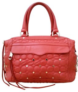 Rebecca Minkoff Mab Quilt Studded Satchel in Red