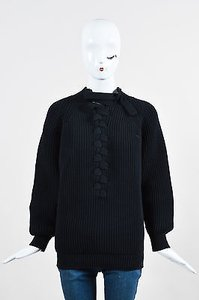Victoria Beckham Cotton Chunky Knit Plait Ls Sweater