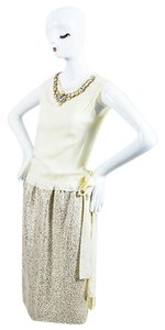 Moschino short dress Cream Beige Metallic on Tradesy