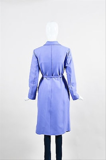 77e03a0e80d5d Valentino Vintage Miss V Periwinkle Purple Wool Blend Belted Coat lovely