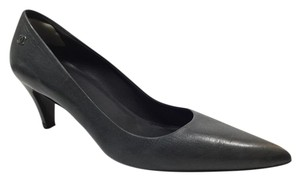 Chanel Leather Pointed Toe Grey Pumps