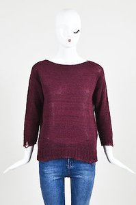 Prada Burgundy Wool Mohair Sweater