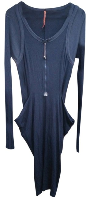 Item - Black Sleeves Sheath Shift Bodycon Strench Long Casual Maxi Dress Size 2 (XS)